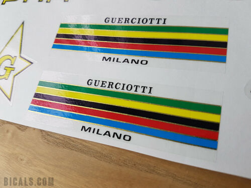 free shipping GUERCIOTTI early-mid 70s V1 decal set sticker silk screen