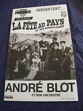 Partition La fête au pays ou Vive Monsieur le maire André Blot Piano Music Sheet