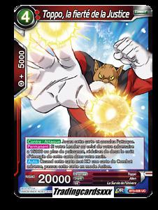 ♦Dragon Ball Super♦ Toppo VF la fierté de la Justice BT3-026 UC