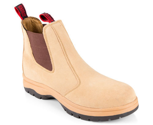 DUNLOP MEN'S HAMMER SUEDE PULL UP SAFETY WORK BOOT - SAND- AU UK MEN'S SIZE 8