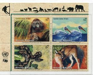 19430H-UNITED-NATIONS-Vienna-1999-MNH-Nuovi-Wild-animals