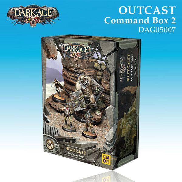 Dark Age Outcast Command box B miniature 32mm new