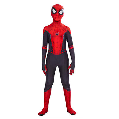 Spider-Man Far From Home Spiderman Zentai Cosplay Costume Suit Child Kids Boys