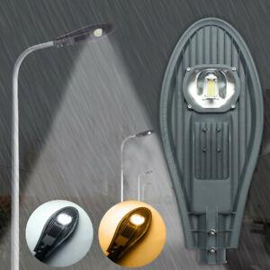LED-Road-Street-Flood-Light-Industrial-Lamp-Outdoor-Garden-Yard-AC85-265V-DC12V