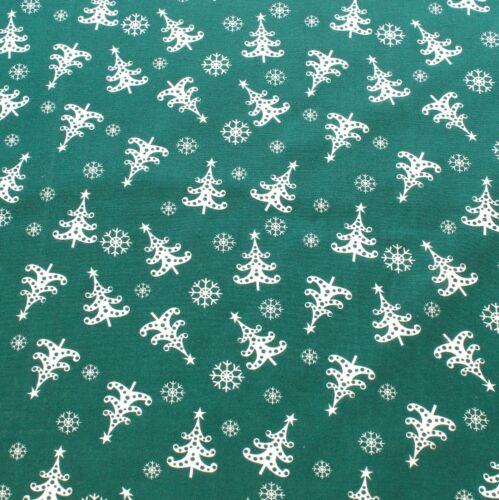 Noel,Xmas Trees,Penguins,Snowmen,Scandi Prints Christmas Polycotton Fabric