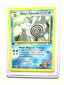 MISTY-S-POLIWRATH-1st-Edition-Gym-Heroes-31-132-Rare-Pokemon-NM