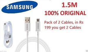 Pack of 2 Cables // 100% ORIGINAL SAMSUNG MICRO USB DATA SYNC CHARGING CABLE