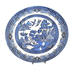 Image is loading Set-of-8-Churchill-Blue-Willow-China-Dinner-  sc 1 st  eBay & Set of 8 Churchill Blue Willow China Dinner Plates 10.25\