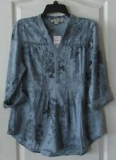 4 assorted colors Women/'s Sz S-XXL NWT Vintage America Blues Woven Printed Top