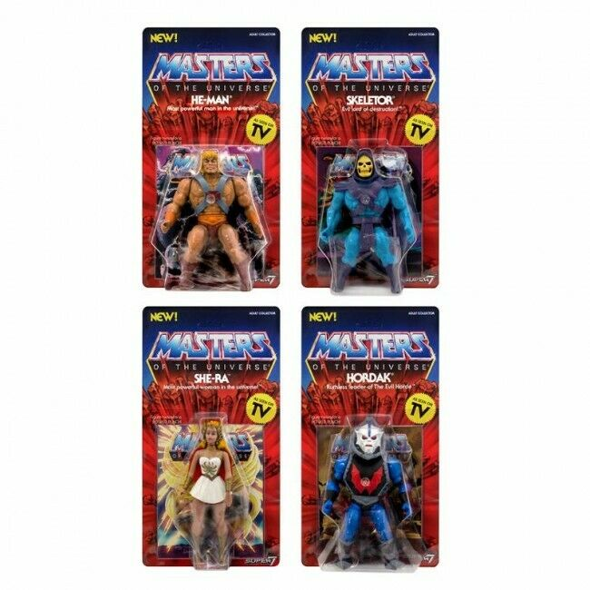 Masters of the Universe Motu verkan Figur Wave 1 He-Man Skeletor She-Ra Hordak
