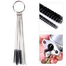 Motorcycle Carburetor Carbon Spray Gun Airbrush 10 Cleaning Needles + 5 Brushes