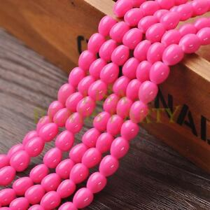 New-Arrival-30pcs-9X7mm-Teardrop-Shape-Loose-Spacer-Glass-Beads-Rose-Red