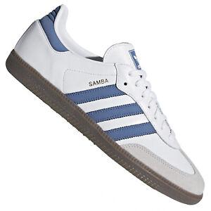 Detalles acerca de Adidas Retro Samba Para Hombre Zapatillas B44629 Cuero  Entrenadores Blanco Trace azul real- mostrar título original