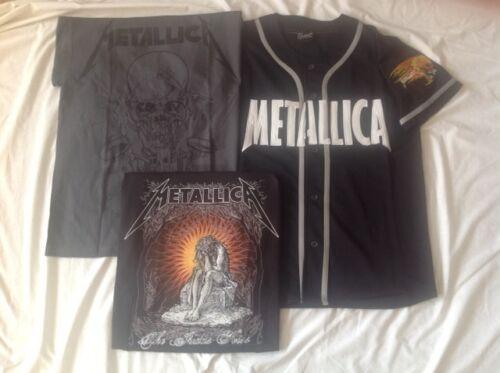 METALLICA JERSEY and 2 METALLICA T-shirts - Medium