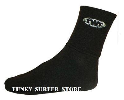 TWF WETSUIT SOCKS SOX 3MM NEOPRENE AQUA SOCKS  BOOTS UK SIZES ADULT/JUNIOR 3-12