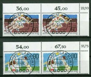 KBWZ-Berlin-664-665-Eckrand-Paar-Satz-gestempelt-Vollstempel-Frankfurt-Gummi
