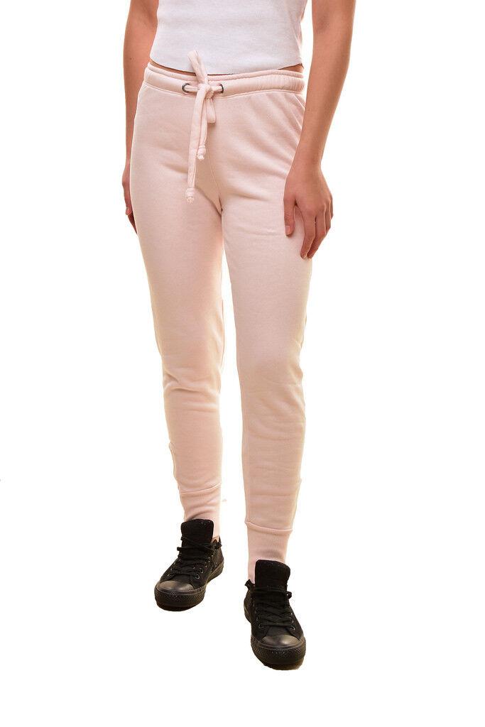 Wildfox donna Fame Zip-taglio morbido confortevole Pantaloni della Tuta rosa XS Prezzo Consigliato  BCF810