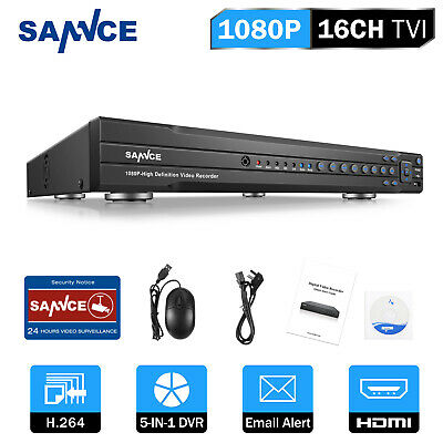 SANNCE 16CH// 8CH// 4CH Full 1080P DVR HD Video Recorder for Home Security System