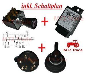 blinkerschalter warnblinkschalter blinkrelais traktor. Black Bedroom Furniture Sets. Home Design Ideas