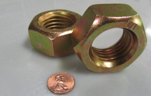Zinc Yellow M30 x 3.5mm 2 Units Metric Hex Nut DIN 934 Class 10 Steel RH