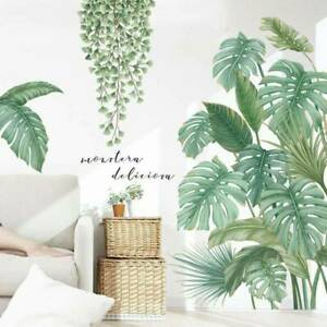 Tropical-Leaves-Green-Plant-Wall-Sticker-Vinyl-Decal-Home-Dormitory-Art-Decor