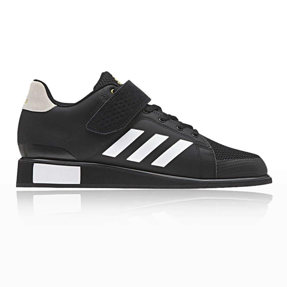 adidas Mens Power Perfect III Weightlifting Shoes Black Sports Trainers