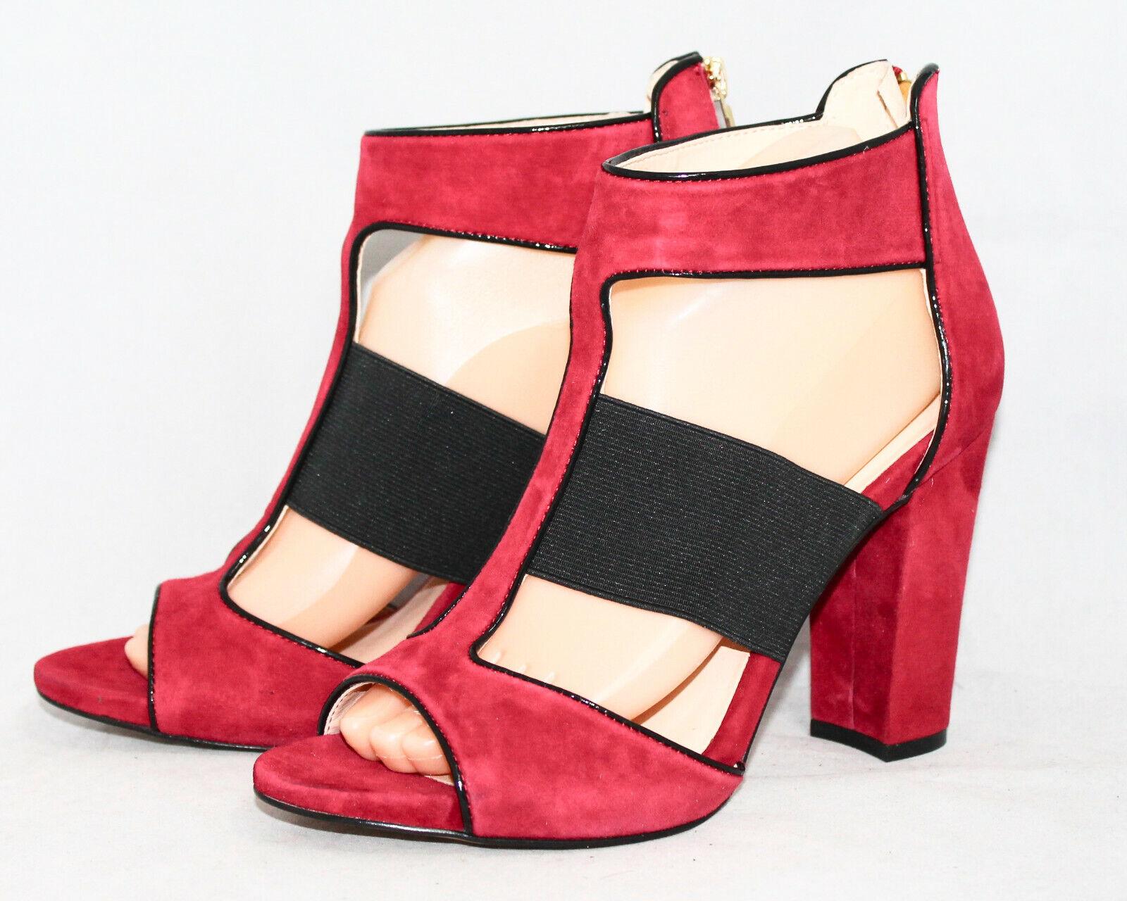 Karl Lagerfeld roselie Wo 's 8.5 M Rouge En Daim Talon Haut Robe Sandale Arrière Zip