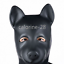 Clubwear Unisex Latex Dog Open Hood Role Play Head Mask With Zipper Closure Eyes