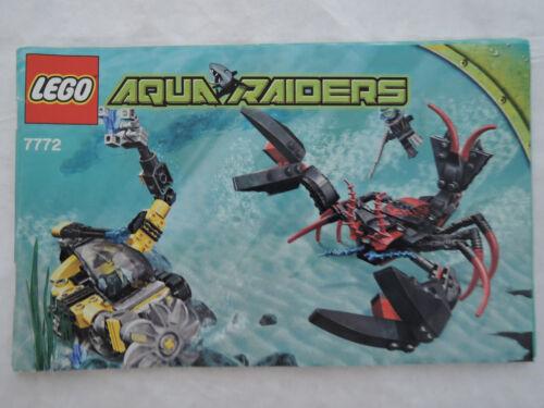 Instruction Aqua Raiders 7772 LEGO Bauanleitung