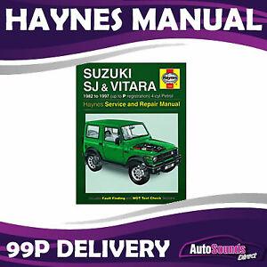 Suzuki SJ Samurai Vitara Haynes Manual 1982-97 1.0 1.3 1.6 Petrol Workshop