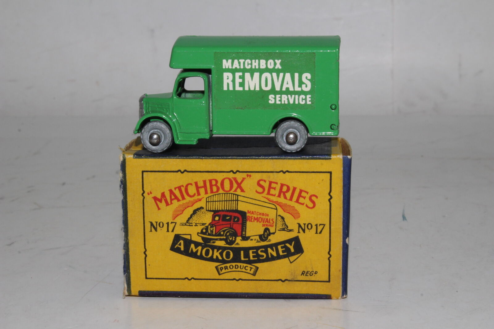 MATCHBOX LESNEY A BEDFORD REMOVALS VAN, METAL WHEELS, EXCELLENT, BOXED