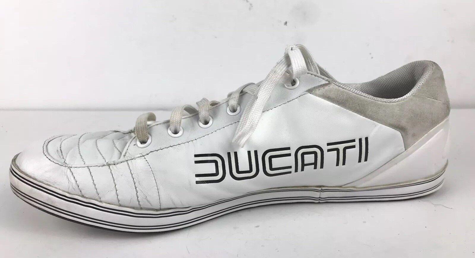 41877b3c5f5 Rare vintage Puma Ducati 65cc White Gym shoes Sports Size 14 US ...