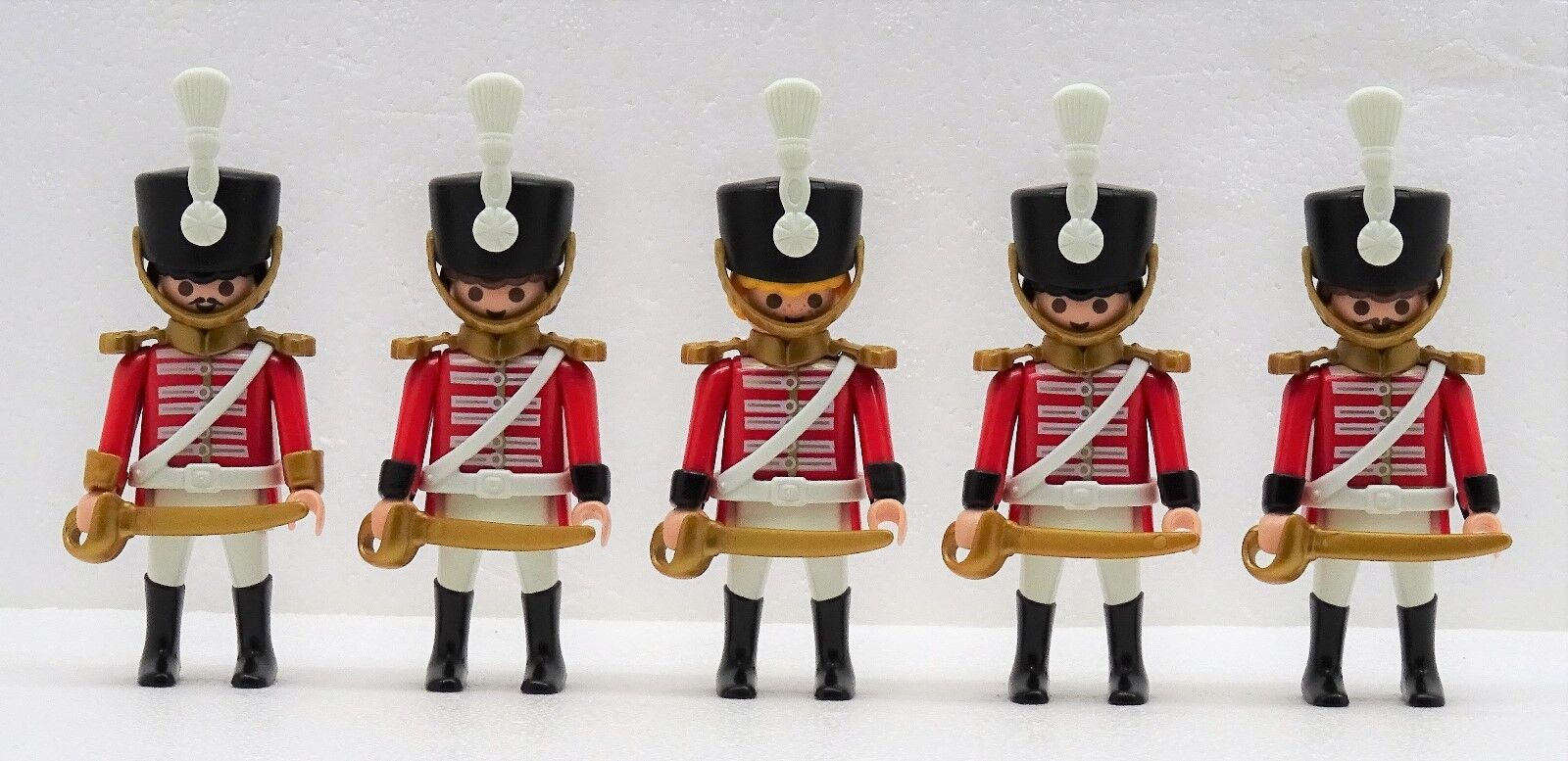 4 x Red Coats Coats Coats Husar + Officer Playmobil to Hussard Guard Soldier vs.Napoleon 02 44028b