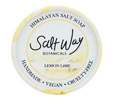 Himalayan Salt Soap Lemon&Lime  Face&Body Vegan & Cruelty-Free  Non-Toxic Detox