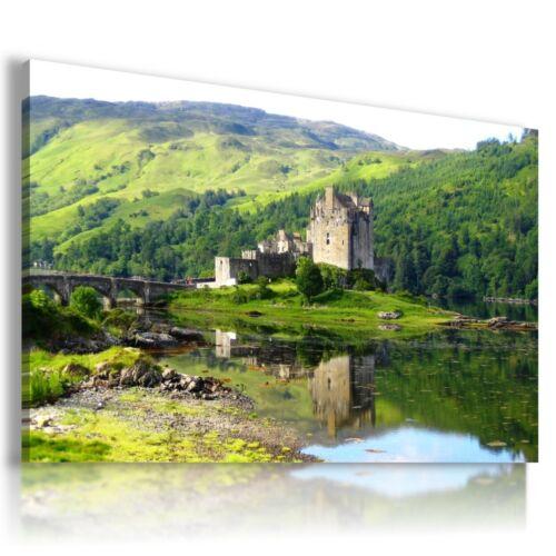 ENGLAND Eilean Donan Castle View Canvas Wall Art L91 MATAGA NO FRAME-ROLLED