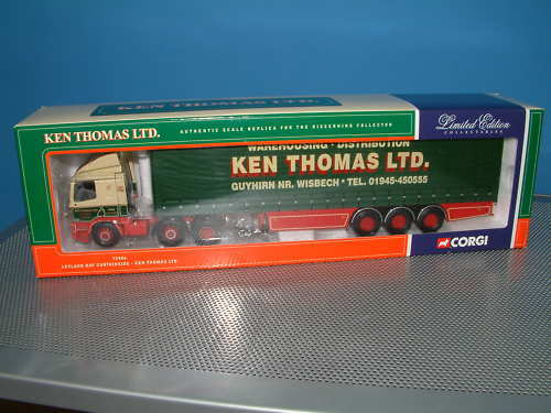 CORGI 75406 Leyland Daf Curtainside Ken Thomas Ltd