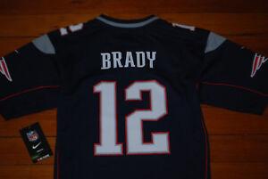 NEW Nike  12 Tom Brady New England Patriots Navy NFL Jersey (Youth ... 2b1dfc005