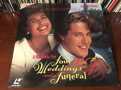 Laserdisc Four Weddings And A Funeral 1994 Hugh Grant Andie Macdowell Lot 2 Ebay