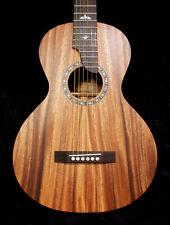 Bruce Wei Solid Acacia Koa Acoustic Slotted Head Parlor Guitar Bird Inlay PG2011