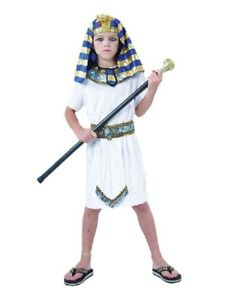 Enfant-Pharaon-Kit-Egyptien-King-Costume-Deguisement-Fete