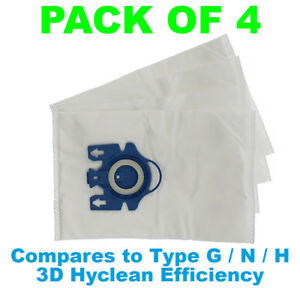 4 Sacchetto per aspirapolvere Miele GN Hyclean 3d per Miele EcoLine-s5