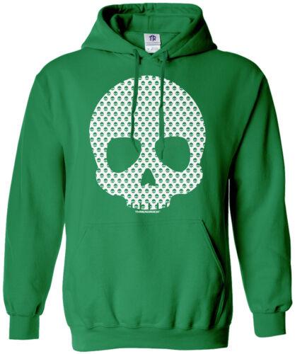Threadrock Women/'s Skull Made of Skulls Hoodie Sweatshirt Halloween Skull