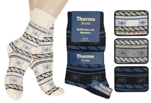 6 oder 12 Paar  Damen Socken Thermosocken Innenfrottee  Wintersocken  4D3 3