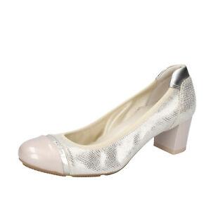 Women's shoes HOGAN 5.5 (EU 35,5) pumps beige leather patent leath ...