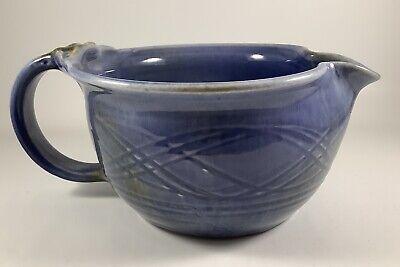 Dryden Pottery Ceramic Blue Brown Drip 10 Dinner Plate Hot Springs Arkansas