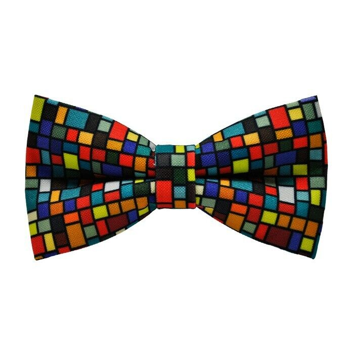 Diligent Multicolor Plaid Bow Tie Hand Made Uk Construction Robuste