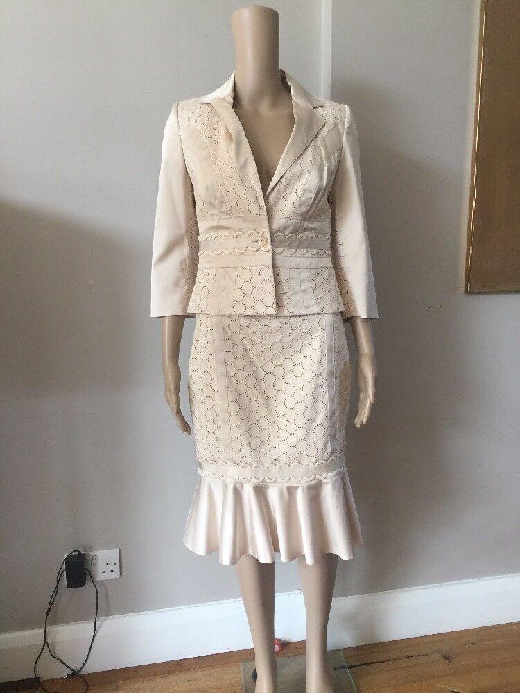 Karen Millen Skirt Suit - Champagne   BNWT