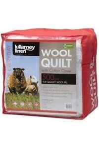 Killarney Linen 500GSM King Bed K Wool Quilt Comforter Doona Duvet RRP$300