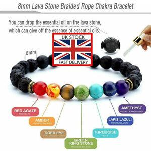 7-Chakra-Bracelet-Crystals-Healing-Stones-Beads-Jewellery-Mala-Reiki-anxiety-NEW