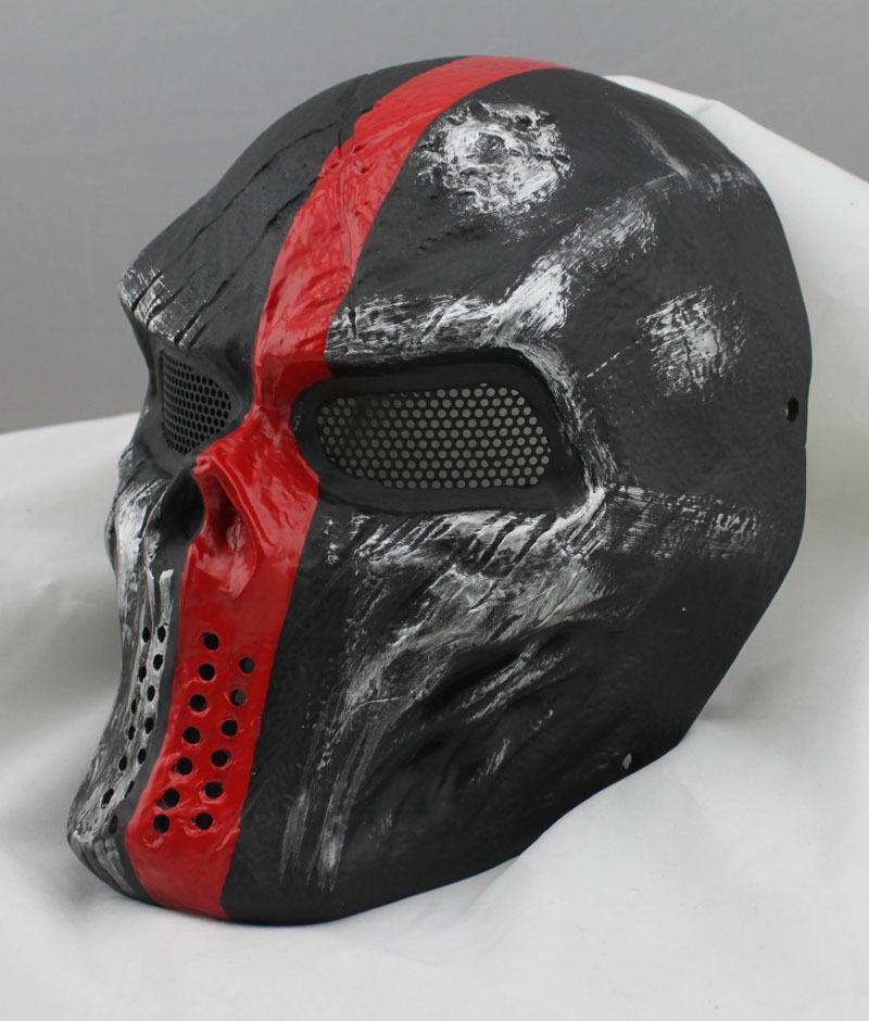 COOL Fiberglass Resin Mesh Eye Airsoft Paintball Full Face Prossoection Mask 6313